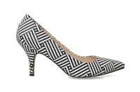 ROSE-BLACK WHITE MAZE-summer-clearance-Traffic Footwear