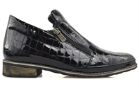 MORRISON-BLACK CROC-boots-Traffic Footwear