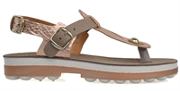 NATSU-ROSEGOLD COFFEE LEATHER-women-Traffic Footwear