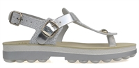 NATSU-SILVER WHITE CAVIAR LEATHER-women-Traffic Footwear