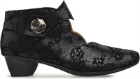 SERENA-BLACK BROCADE-heels-Traffic Footwear