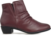 YANNY-BURGUNDY-ankle-boots-Traffic Footwear
