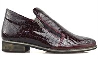 MORRISON-BURGUNDY CROC-boots-Traffic Footwear