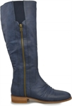 BEASER-INDIGO BLUE-long-boots-Traffic Footwear