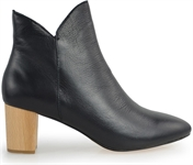BABE-BLACK LEATHER-women-Traffic Footwear