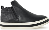 PEGGIE-BLACK LEATHER-comfort-Traffic Footwear