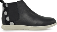JADED-BLACK COMBO LEATHER-boots-Traffic Footwear