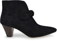 CANFO-BLACK FAUX SUEDE-heels-Traffic Footwear