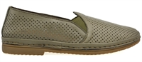 COTTON-OLIVE LEATHER-flats-Traffic Footwear
