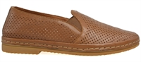 COTTON-NEW NATURE TAN LEATHER-flats-Traffic Footwear