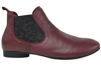THERESA-BURGUNDY-ankle-boots-Traffic Footwear