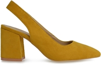 SWEETNESS-MUSTARD FAUX SUEDE-heels-Traffic Footwear