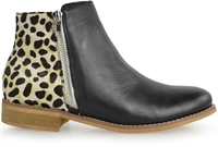 VIPER-BLACK LEATHER WHITE LEOPARD-alfie-and-evie-Traffic Footwear