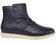 MARRIED-NAVY LEATHER-women-Traffic Footwear