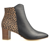 BERTRAM-BLACK BROWN ANIMAL PRINT LEATHER-all-Traffic Footwear