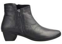 STAG-BLACK LIZARD PRINTED LEATHER-women-Traffic Footwear