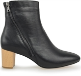 BEACH-BLACK LEATHER-women-Traffic Footwear