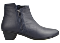 STAG-DEEP OCEAN NAVY LEATHER-women-Traffic Footwear